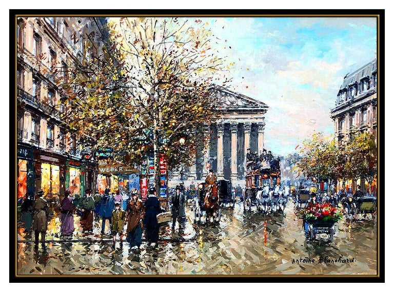 Antoine Blanchard Authentic & Original Oil Painting On Canvas, Professionally Custom Framed in its Vintage Moulding and listed with the Submit Best Offer option   Accepting Offers Now: The item up for sale is a spectacular and bold Painting on