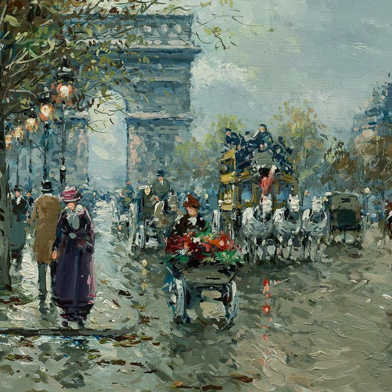 Arc de Triomphe - Post-Impressionist Painting by Antoine Blanchard