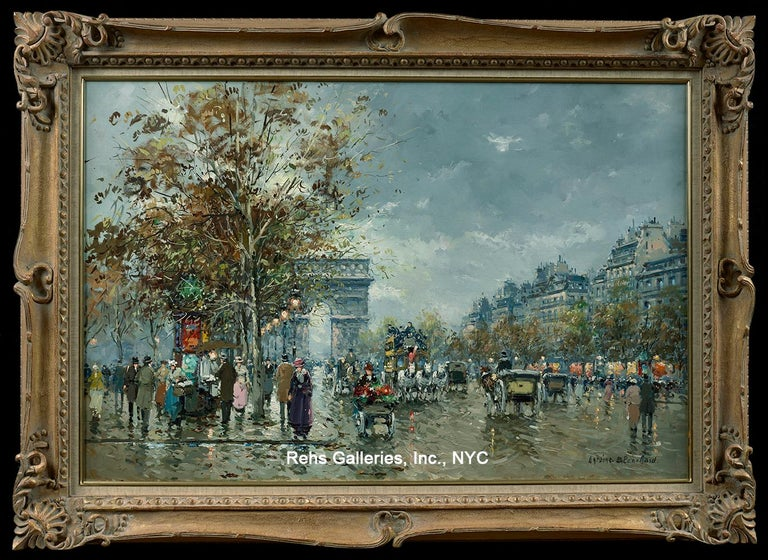 ANTOINE BLANCHARD (1910 - 1988) Arc de Triomphe Oil on canvas 24 x 36 inches Framed dimensions: 30 3/4 x 42 3/4 inches Signed  This painting is in excellent condition.  Other artists who painted similar scenes include Edouard Cortes, Eugene Galien