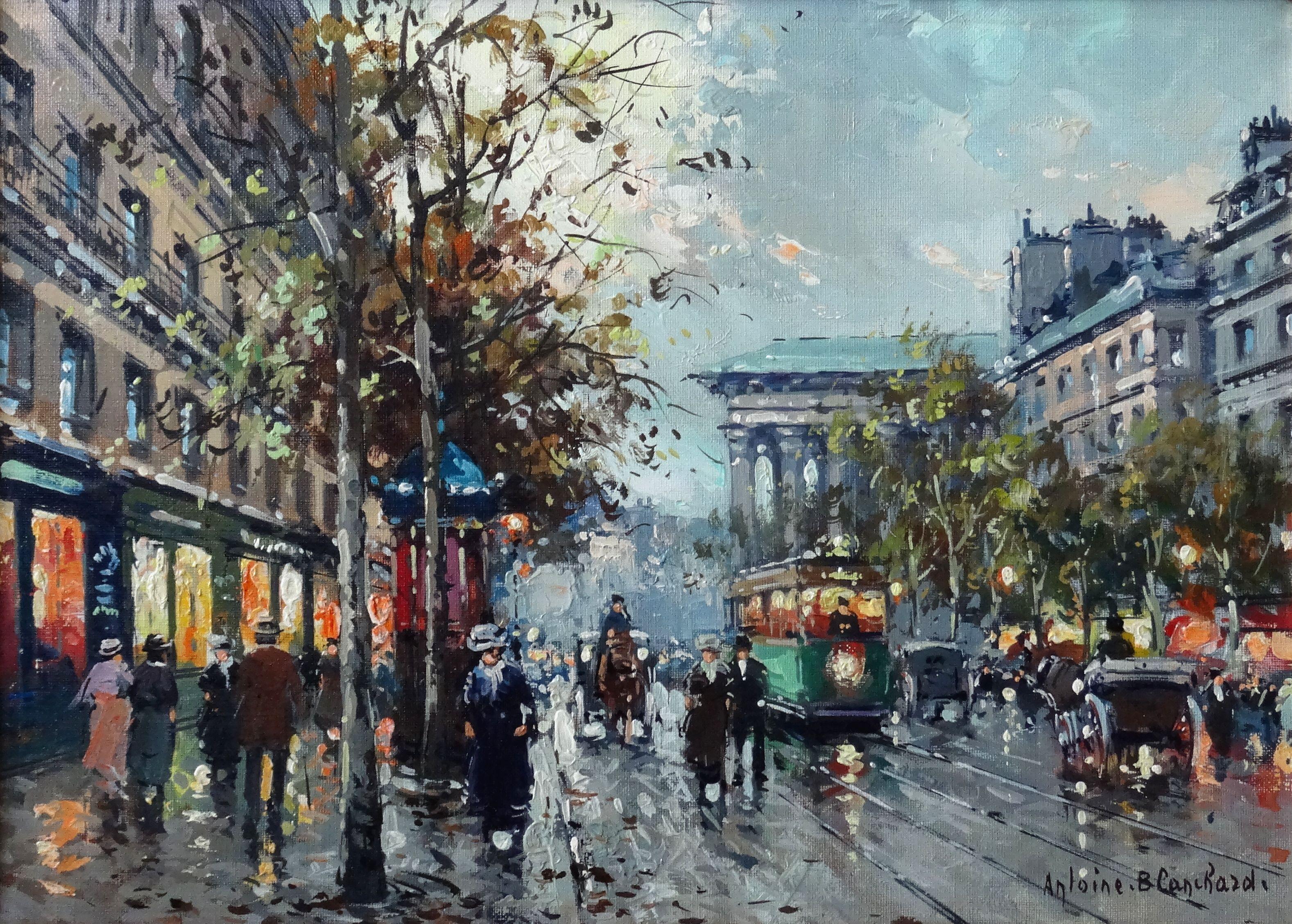 Boulevard de la Madeleine  Oil on canvas, 33,3x46 cm
