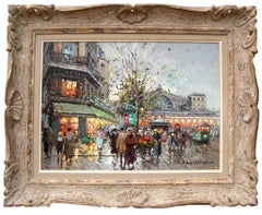 """""""Chatelaine"""", Antoine Blanchard, Oil on Canvas, French Impressionism"""