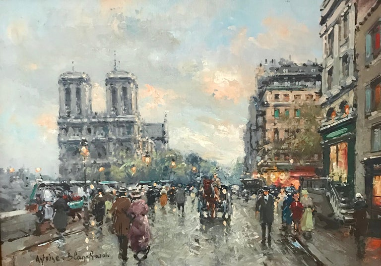 Cityscape by Antoine Blanchard For Sale 3
