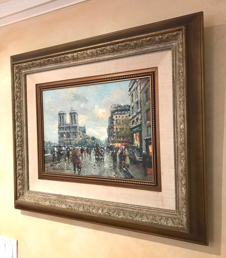 Cityscape by Antoine Blanchard For Sale 6