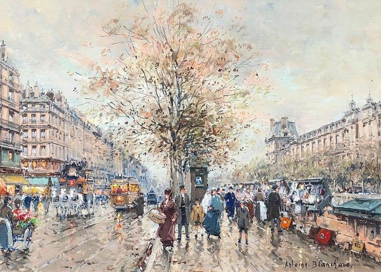 Antoine Blanchard Landscape Painting - Le Quais et la Louvre