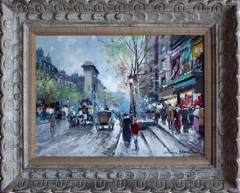 Antoine Blanchard Landscape Painting - Les Grands Boulevards et La Porte Saint Denis