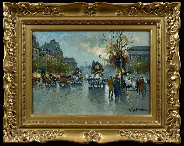 Place de la Madeleine - Painting by Antoine Blanchard