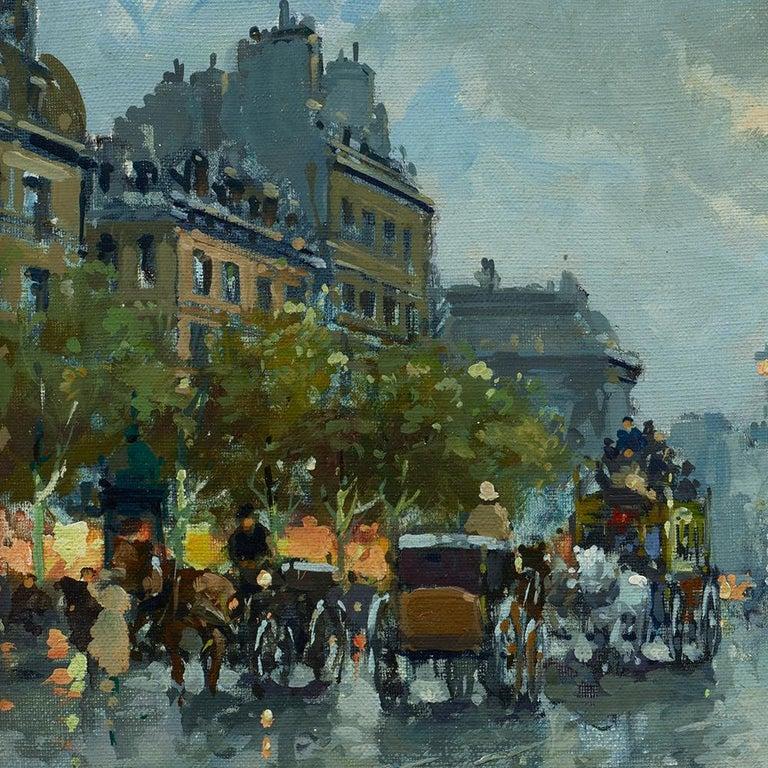 Place de la Madeleine - Impressionist Painting by Antoine Blanchard
