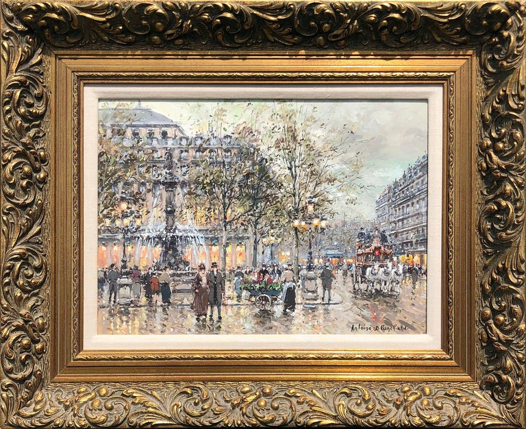 Place du Palais Royal - Painting by Antoine Blanchard