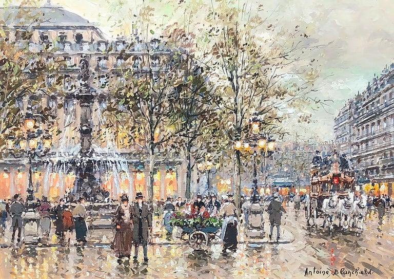 Antoine Blanchard Landscape Painting - Place du Palais Royal