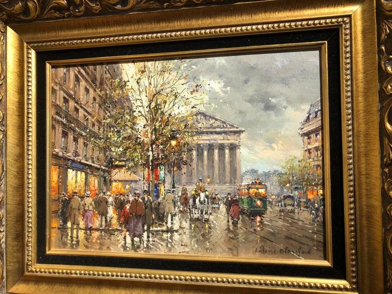 Rue de la Madelaine - Brown Landscape Painting by Antoine Blanchard