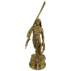 Antoine Bofill Bronze of a Sea Man with Oars, French, circa 1900