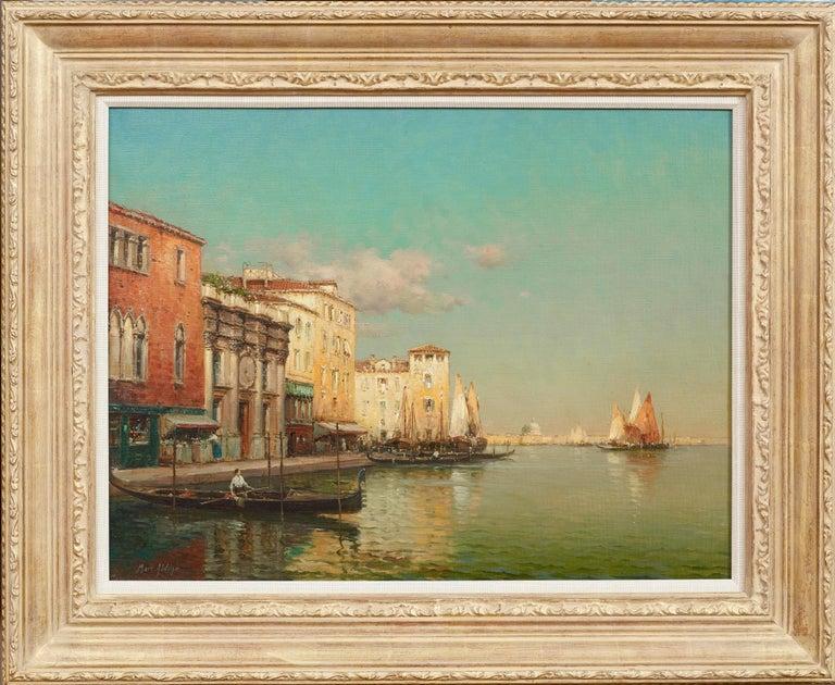 Landscape painting of Venice by Antoine Bouvard Senior 'Golden Reflections' - Painting by Antoine Bouvard (Marc Aldine)