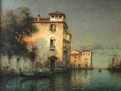 Landscape painting of Venice by Antoine Bouvard Senior Still Waters'