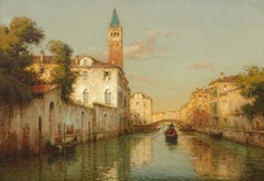 Water & Landscape Painting of Venice 'Tranquil Waters' by Antoine Bouvard Snr