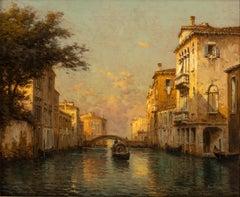 Landscape Painting of Venice 'Venetian Evening' by Antoine Bouvard Snr.
