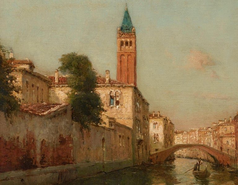 Venetian Landscape Painting 'Sunrise in Venice' by Antoine Bouvard Snr.   For Sale 1