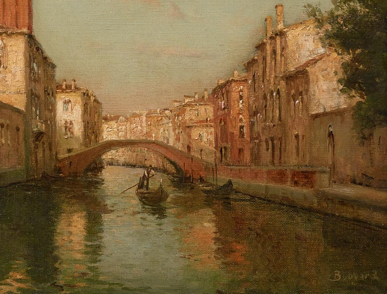 Venetian Landscape Painting 'Sunrise in Venice' by Antoine Bouvard Snr.   For Sale 2