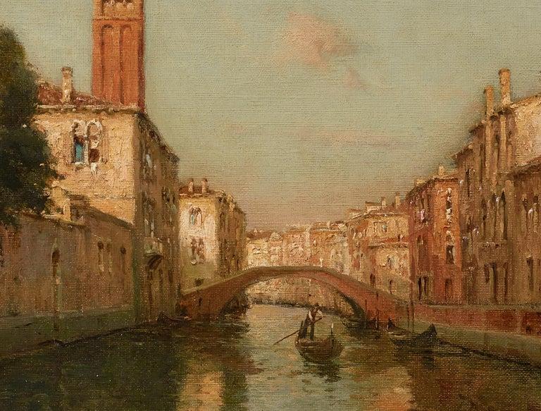 Venetian Landscape Painting 'Sunrise in Venice' by Antoine Bouvard Snr.   For Sale 3