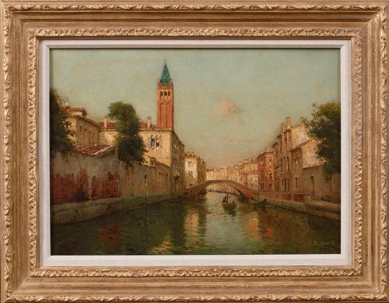 Venetian Landscape Painting 'Sunrise in Venice' by Antoine Bouvard Snr.   For Sale 4