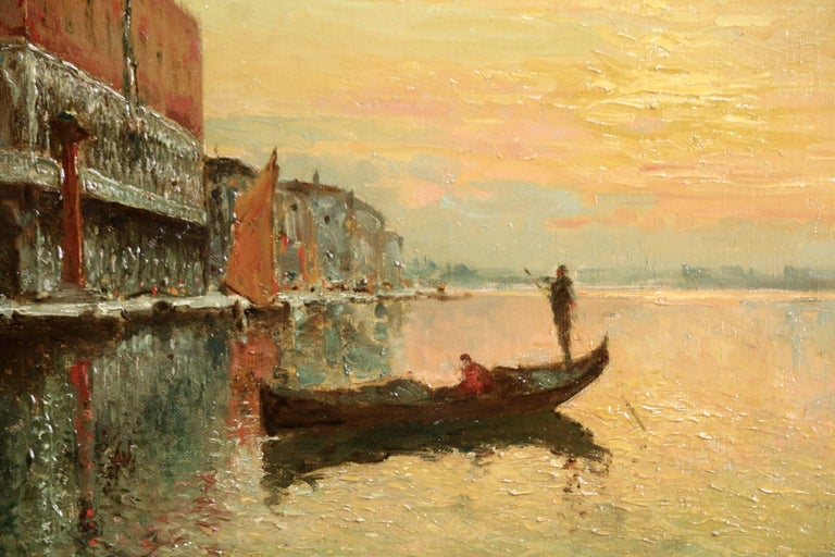 Venice - Doges Palace - Sunset - Painting by Antoine Bouvard Snr.