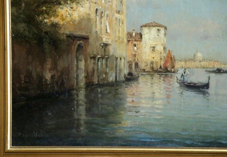 Venice - Gray Landscape Painting by Antoine Bouvard Snr.