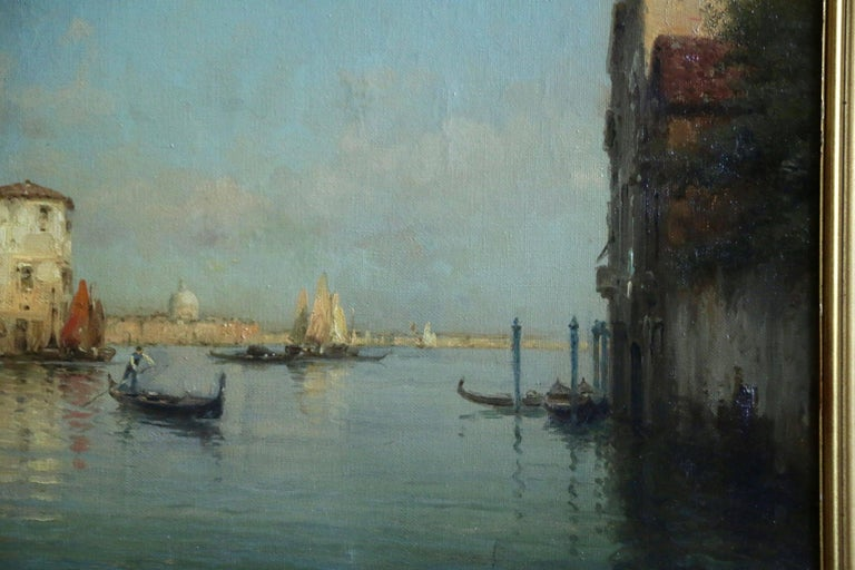 Oil on original canvas. Signed lower left.   Antoine Bouvard Senior - also known as Marc Aldine - is one of the most popular and prolific painters of Venetian scenes of the early 20th century, yet little is known of his life.   From the late 19th