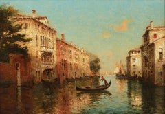 Venice Landscape Painting 'Afternoon Light' by Antoine Bouvard Senior