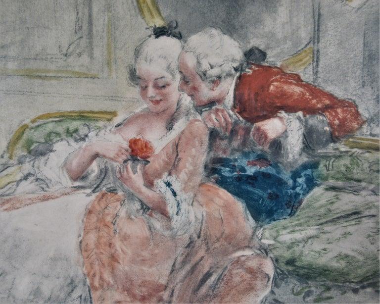 Scene Galante au XVIII eme Siecle #1 - Realist Print by Antoine Calbet