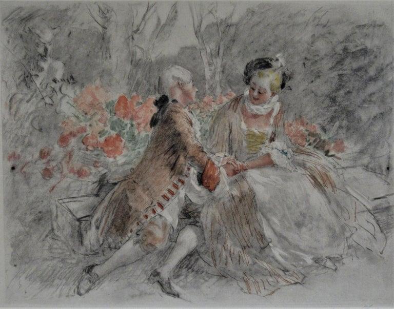 Scene Galante au XVIII eme Siecle #2 - Print by Antoine Calbet
