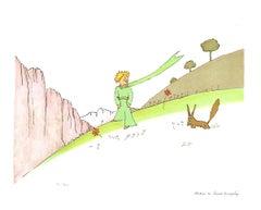 2008 Antoine de Saint Exupery 'Le Petit Prince et le Renard (lg)' Modernism