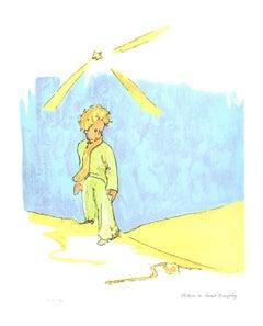 2008 Antoine de Saint Exupery 'Le Serpent (lg)' Modernism Blue,Yellow,White