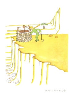 2008 Antoine de Saint Exupery 'Petit Prince fetching water (md)' Modernism White