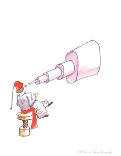2008 Antoine de Saint Exupery 'The Astronomer (md)' Modernism White,Purple,Pink,
