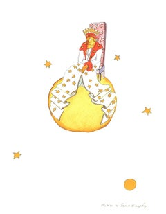 2008 Antoine de Saint Exupery 'The King (md)' Modernism Multicolor,Yellow,White,