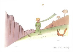 2015 Antoine de Saint Exupery 'The Little Prince and the Fox' Modernism Brown,Gr