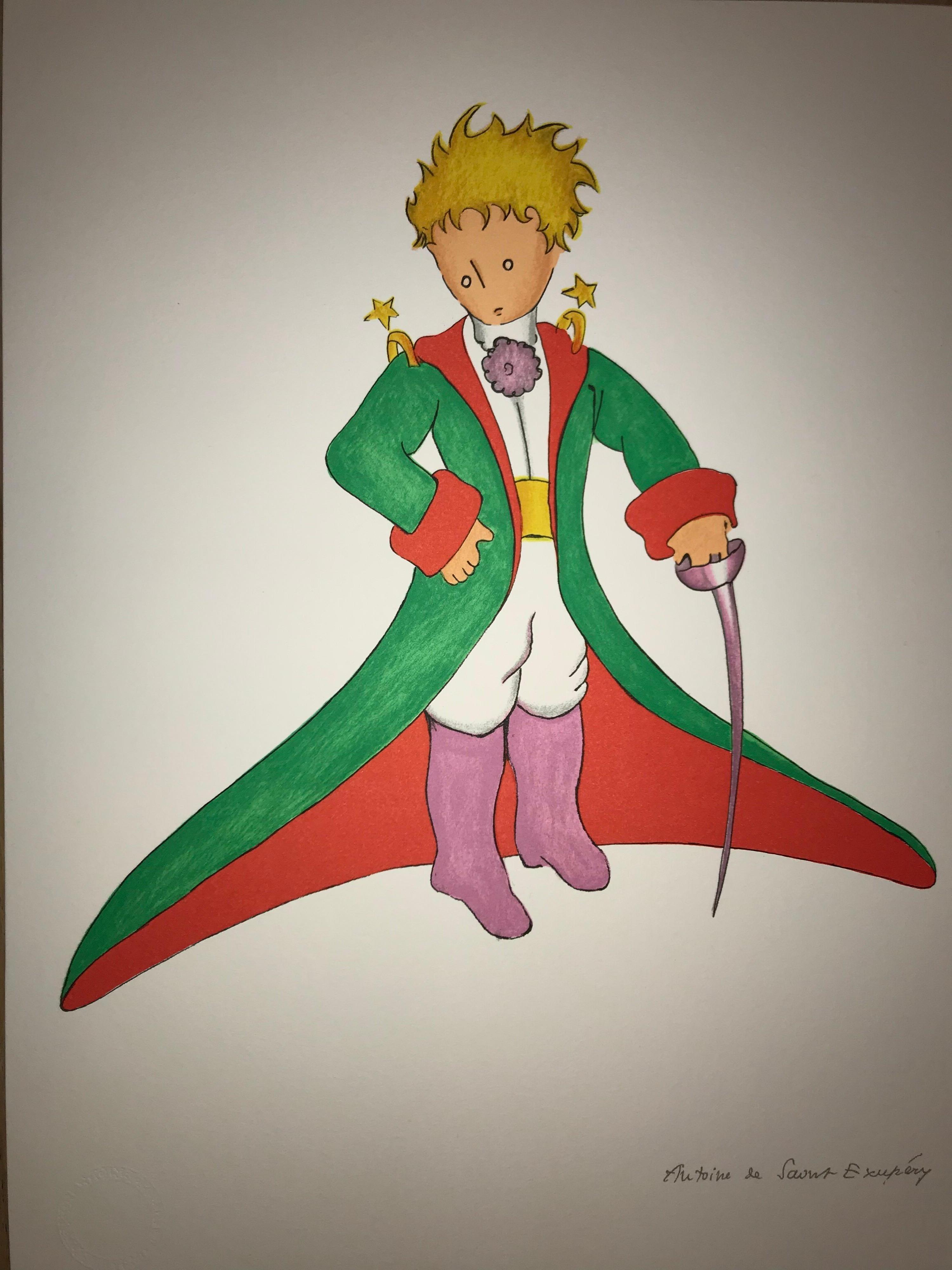 Le Petit Prince en grand manteau - Lithograph - 1900-1944 - Platesigned