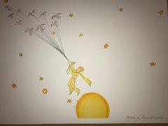 Le Petit Prince en route vers une autre planète - Litho - 1900-1944 - Platesign