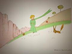 Le Petit Prince et le Renard - Lithograph - 1900-1944 - Platesigned