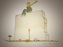 Le Petit Prince et le Serpent - Lithograph - 1900-1944 - Platesigned