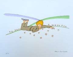 The Little Prince crying in the grass