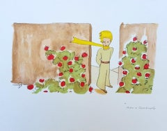 The Little Prince in the Rose Garden L