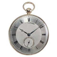Antoine Lepine Rose Gold Ruby Cylinder French Pocket Watch, circa 1780s