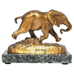 Antoine-Louis Barye Bronze Elephant Du Senegal