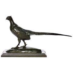 Antoine Louis Barye Bronze Pheasant