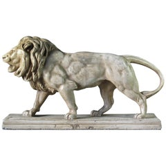 Antoine-Louis Barye 'French' Lion Qui Marche 'Walking Lion', 19th Century