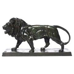 Antoine Louis Barye Striding Lion Qui Marche