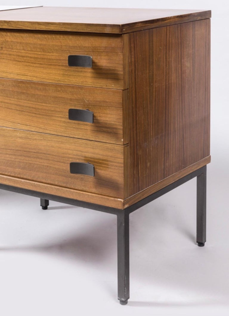 French Antoine Philippon and Jacqueline Lecocq Desk, in Rosewood 1965 For Sale