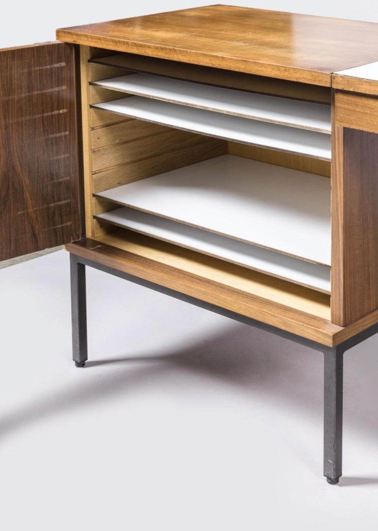 Antoine Philippon and Jacqueline Lecocq Desk, in Rosewood 1965 In Good Condition For Sale In Avignon, Vaucluse