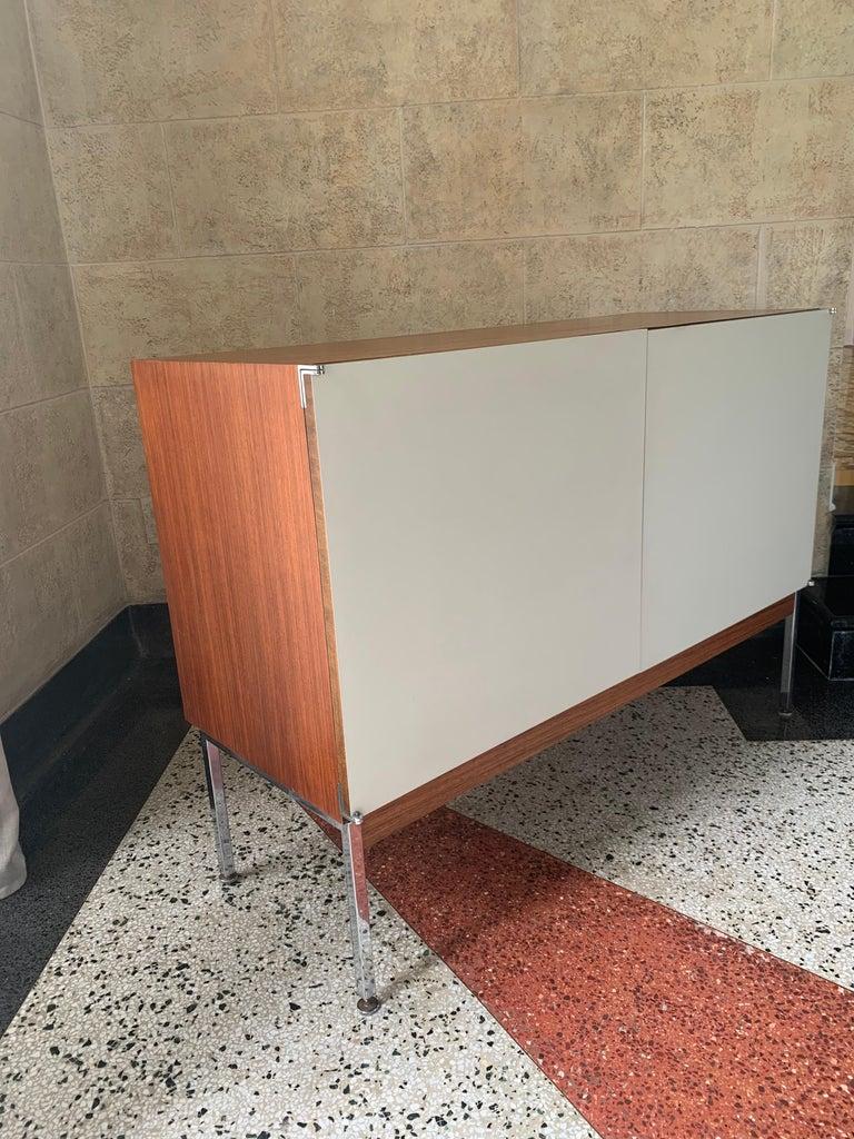 Mid-Century Modern Antoine Philippon & Jacqueline Lecoq Petite 2 Door Cabinet Credenza Sideboard For Sale