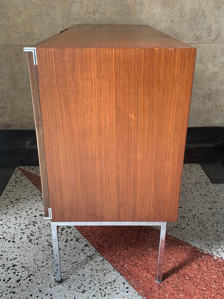 Plated Antoine Philippon & Jacqueline Lecoq Petite 2 Door Cabinet Credenza Sideboard For Sale